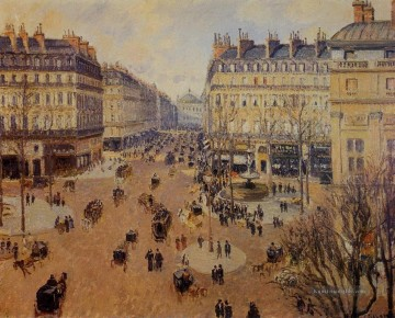1898 Galerie - place du Theater francais Nachmittagssonne im Winter 1898 Camille Pissarro